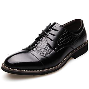 baratos Oxfords Masculinos-Homens Sapatos formais Sintéticos Primavera / Outono Clássico / Casual Oxfords Não escorregar Preto / Marron / Sapatos de vestir