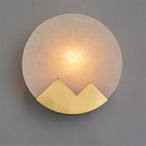 billige Vegglamper med LED-Nord-Europa moderne galvanisert metall vegg sconce marmor mini vegg lampe stue spisestue kafé e12 / e14 pære base