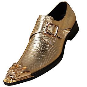 baratos Oxfords Masculinos-Homens Sapatos formais Pele Napa Outono Formais Mocassins e Slip-Ons Não escorregar Dourado / Prata / Festas & Noite / Festas & Noite / Sapatos de vestir
