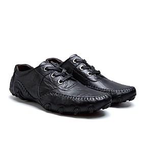 baratos Oxfords Masculinos-Homens Sapatos de couro Couro Outono & inverno Casual Oxfords Não escorregar Preto / Marron
