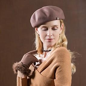 povoljno Kentucky Derby Hat-Imitacija bisera / 100% vuna Kentucky Derby Hat / kape s Kristali / Rhinestones 1pc Kauzalni / Dnevni Nosite Glava