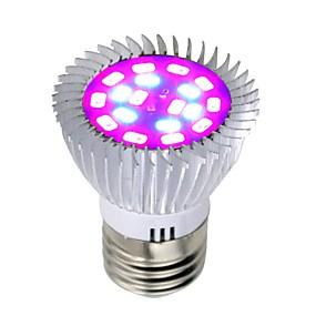 halpa LED-kasvatusvalot-1kpl 8 W Kasvava hehkulamppu 640 lm E26 / E27 18 LED-helmet SMD 5730 Täysspektri Punainen Sininen 85-265 V