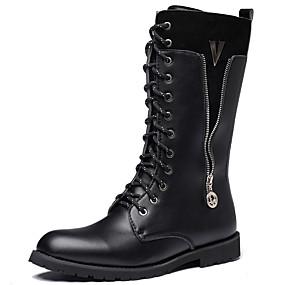 baratos Botas Masculinas-Homens Fashion Boots Sintéticos Outono & inverno Casual / Formais Botas Manter Quente Botas Cano Médio Preto / Festas & Noite