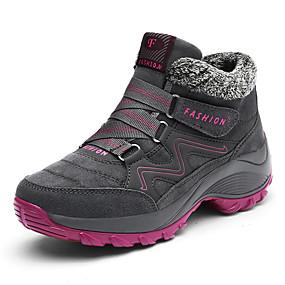 baratos Sapatos Esportivos Femininos-Mulheres Sapatos Confortáveis Camurça Inverno Esportivo / Casual Tênis Aventura Salto Baixo Ponta Redonda Cinzento / Roxo / Fúcsia