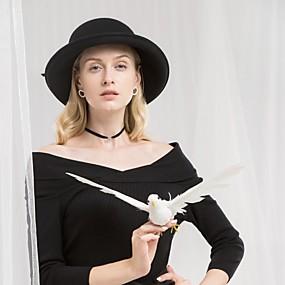 povoljno Kentucky Derby Hat-100% vuna kape s Csillag 1pc Kauzalni / Dnevni Nosite Glava