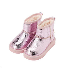 0e303dd2c5b Girls  Shoes PU(Polyurethane) Winter Snow Boots Boots Satin Flower for Kids  Black   Pink   Mid-Calf Boots