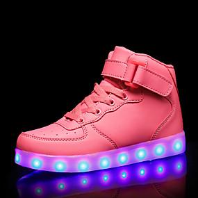 voordelige Damessneakers-Dames Sneakers Lage hak Ronde Teen PU Zoet / minimalisme Herfst winter Zwart / Wit / Rood
