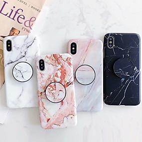 זול טלפונים ואביזרים-מארז iPhone xr xs xs max עם מעמד imd / תבנית כיסוי גב tpu רך שיש עבור iPhone x 8 8 פלוס 7 7plus 6s 6s בתוספת se 5 5s