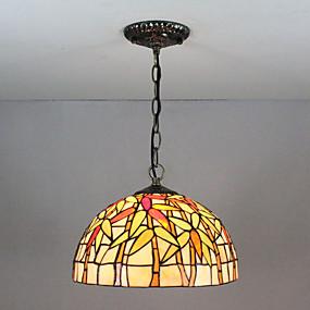 abordables Lampe Tiffany-Lampe suspendue Lumière d'ambiance Finitions Peintes Verre Verre Multi-teintes, Créatif 110-120V / 220-240V