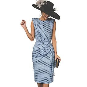 cheap National promotion-Women's Vintage Sheath Dress - Polka Dot Red Pink Light Blue XXL XXXL XXXXL / Sexy