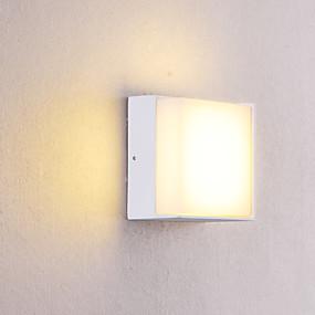 billige Vegglamper med LED-OYLYW Vanntett / Mini Stil LED / Moderne Moderne Vegglamper / Baderomsbelysning Innendørs / Utendørs Metall Vegglampe IP54 85-265V 5 W