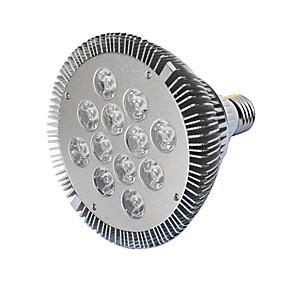 billige LED Økende Lamper-1pc 12 W Voksende lyspære 490-700 lm E26 / E27 12 LED perler Høyeffekts-LED Rød Blå 85-265 V / 1 stk. / RoHs