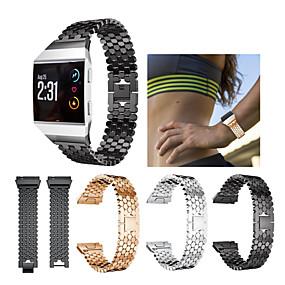 halpa Älykello Tarvikkeet-Watch Band varten Fitbit ionic Fitbit Urheiluhihna Ruostumaton teräs Rannehihna