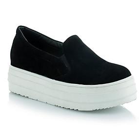 voordelige Damesschoenen met platte hak-Dames PU Lente Zoet / minimalisme Platte schoenen Creepers Ronde Teen Beige / Grijs / Groen