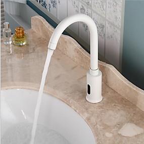 billige Induksjon Kraner-Baderom Sink Tappekran - Utbredt / Sensor galvanisert Frittstående Handsfree Et HullBath Taps / Messing