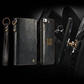 voordelige Telefoons en accessoires-CaseMe hoesje Voor Apple iPhone 6 / iPhone 6s Portemonnee / Kaarthouder / Flip Volledig hoesje Effen Hard PU-nahka voor iPhone 6s / iPhone 6