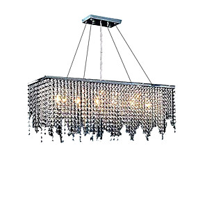 cheap 70% OFF-6-Light Island Light Ambient Light Chrome Crystal Crystal 110-120V / 220-240V Bulb Not Included / E12 / E14