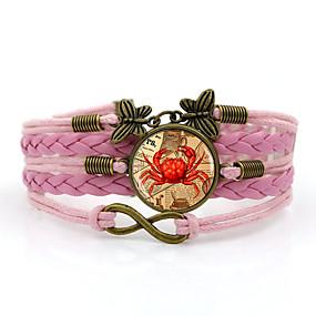 baratos Pulseiras Vintage-Mulheres tear Bracelet Entrançado Corda Na moda Steampunk Cordão Pulseira de jóias Marron / Azul / Rosa claro Para Diário Para Noite