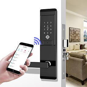 povoljno Telefoni i elektronika-pineworld q201 pametna brava vrata / cink legura brava / zaporka za zaporku / zaključavanje otiska prsta pametna kuća sigurnost ios / android sustav za otključavanje lozinke / mehanički ključ otključa