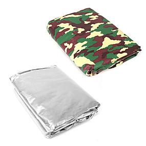 voordelige Autohoezen-224x152cm zilver / camouflage auto zonnescherm voorruitafdekking sneeuwregen stof uv-bescherming