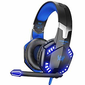 tanie Discover-kotion każdy zestaw słuchawkowy do gier stereo g2000 do konsoli xbox one ps4 pc, słuchawki z dźwiękiem surround z mikrofonem z redukcją szumów, diody led, regulacja głośności do laptopa, mac, ps3, gry