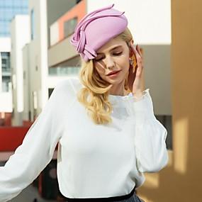 povoljno Kentucky Derby Hat-100% vuna Kentucky Derby Hat / Šeširi s Mašnica 1pc Kauzalni / Dnevni Nosite Glava