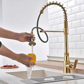 billige Uttrekkbar Spray-Kjøkken Kran - Enkelt Håndtak Et Hull galvanisert standard Tut Vanlig Kitchen Taps