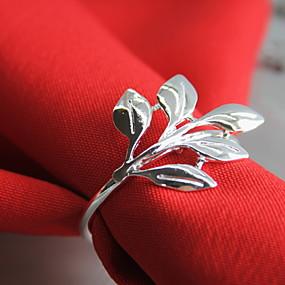 billige Bordduker-Klassisk Metall Rund Servietring Ensfarget Blomsternål i krystall Borddekorasjoner 12 pcs