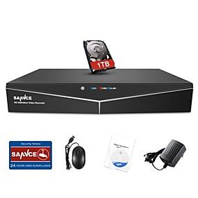 Недорогие Цифровые видеорегистраторы и DVR карты-Sannce® 8-канальный 1080n видеонаблюдения видеонаблюдения с 1 ТБ жесткий