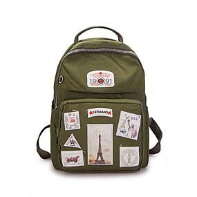 cheap Intermediate School Bags-Women's Bags Polyester School Bag Zipper Dark Grey / Light Grey / Sky Blue