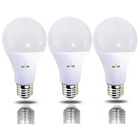 رخيصةأون لمبات LED-EXUP® 12 W مصابيح كروية LED 1180 lm B22 E26 / E27 28 الخرز LED SMD 2835 220-240 V 110-130 V, مل 3pcs