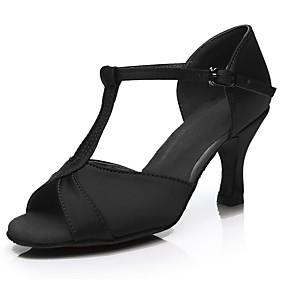 8735150b8d Mulheres Sapatos de Dança Latina Cetim Salto Salto Alto Magro  Personalizável Sapatos de Dança Prata   Fúcsia   Marron