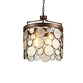 billige Hengelamper-3-Light Sirkelformet / Sylinder Anheng Lys Nedlys Antikk Messing Metall Glass Kreativ, Nytt Design 110-120V / 220-240V