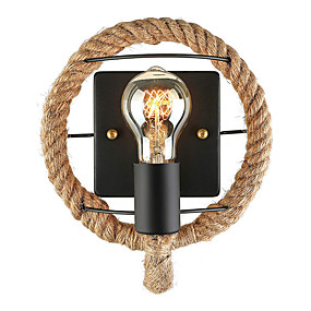 cheap Super Sales-JSGYlights Mini Style / Cute Simple / Retro / Vintage Wall Lamps & Sconces Living Room / Dining Room Hemp Rope Wall Light 110-120V / 220-240V 60 W