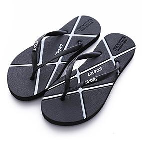 baratos Sandálias e Chinelos Masculinos-Homens Sapatos Confortáveis Borracha Verão Chinelos e flip-flops Preto / Dourado / Prata