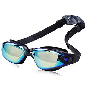 f000f6058 Óculos de Natação Prova-de-Água   Anti-Nevoeiro Resina   Silicone PC Preto    Azul   Rosa Claro Cinzento Claro