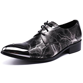 baratos Oxfords Masculinos-Homens Sapatos formais Pele Napa Outono Casual / Formais Oxfords Manter Quente Gradiente Preto / Impressão Oxfords / Sapatos de vestir