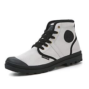 baratos Botas Masculinas-Homens Fashion Boots Lona Primavera Verão Clássico / Casual Botas Não escorregar Botas Curtas / Ankle Cinzento / Azul / Camel