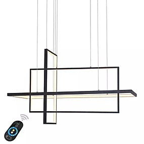 cheap Chandeliers-UMEI™ Linear Chandelier Ambient Light Painted Finishes Aluminum Dimmable 110-120V / 220-240V White / Dimmable With Remote Control / Wi-Fi Smart / FCC