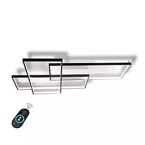 cheap Clearance-UMEI™ Linear Wall Light / Flush Mount Lights Ambient Light Painted Finishes Aluminum Dimmable With Remote Control 85-265V White / Warm White+White / Wi-Fi Smart