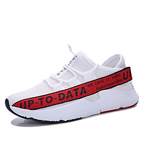 cheap Running Shoes-Men's Light Soles Mesh Spring & Summer Sporty / Casual Athletic Shoes Running Shoes / Walking Shoes Breathable Gray / Yellow / Red