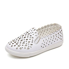 cheap Kids' Shoes-Girls' Shoes Faux Leather Summer Comfort Loafers & Slip-Ons for Kids / Teenager White / Black / Pink