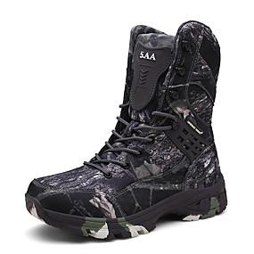 baratos Botas Masculinas-Homens Sapatos Confortáveis Camurça / Couro Sintético Primavera Esportivo / Formais Botas Aventura Manter Quente Cinzento