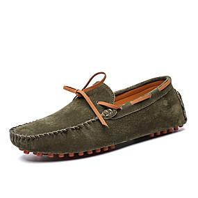 baratos Sapatos Náuticos Masculinos-Homens Mocassim Camurça Primavera / Outono Negócio / Casual Sapatos de Barco Não escorregar Marron / Azul / Khaki