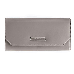 Недорогие Обувь и сумки-Жен. Бумажники PU Сплошной цвет Серый / Лиловый / Винный / Наступила зима