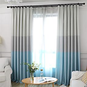 billige Mørkleggingsgardiner-Moderne Blackout Et panel Gardin Stue   Curtains
