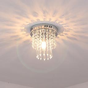 hesapli Oprawy oświetleniowe-Kristal Gömme Montajlı Işıklar Aşağı Doğru Eloktrize Kaplama Kristal Kristal 110-120V / 220-240V / E12 / E14