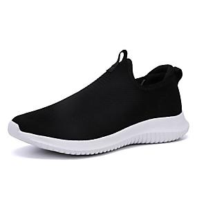 hesapli Erkek Atletik Ayakkabıları-Erkek Ayakkabı Örümcek Ağı İlkbahar yaz Sportif / Günlük Atletik Ayakkabılar Koşu Atletik / Dış mekan için Siyah / Açık Gri / Mavi / Çizgili