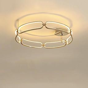 tanie Mocowanie przysufitowe-CONTRACTED LED® Nowość Lampy sufitowe Światło rozproszone Szczotkowany Aluminium Kreatywne, Nowy design 110-120V / 220-240V Ciepła biel / Biały