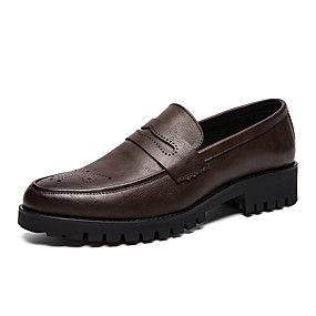 cheap Men's Slip-ons & Loafers-Men's Formal Shoes PU Spring & Summer / Fall & Winter Business / Casual Loafers & Slip-Ons Walking Shoes Non-slipping Black / Brown / Party & Evening / Party & Evening / Office & Career / Dress Shoes